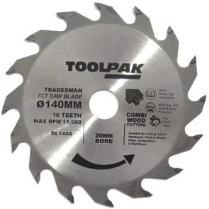 Tradesman TCT Blade 140mm x 20mm x 16 Teeth