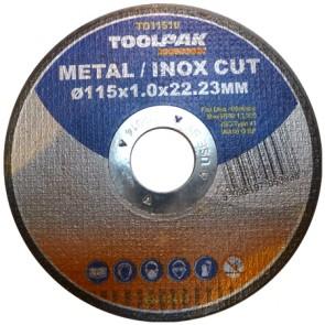 Super-Thin Metal Cutting Discs 115mm x 1.0mm x 22mm