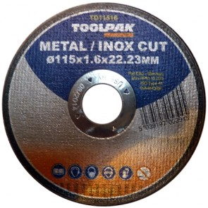Super-Thin Metal Cutting Discs 115mm x 1.6mm x 22mm