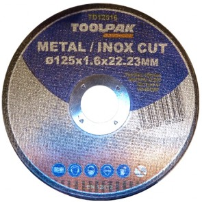 Super-Thin Metal Cutting Discs 125mm x 1.6mm x 22mm