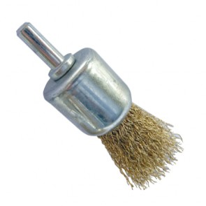 Shanked Crimped Wire End Brush 24mm