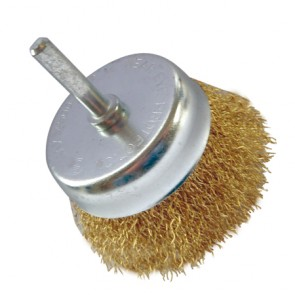 Shanked Crimped Wire Cup Brush 75mm
