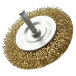 Shanked Crimped Wire Wheel Brush 100mm