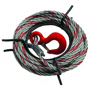TIRFOR T508/TU8/T7 WIRE ROPE C8 D8.3 + HOOK 15M