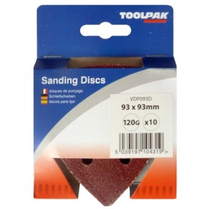 Sanding Discs 93mm 6 Hole Display Pack  120 Grit