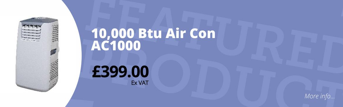 10,000 btu air con ac1000 £399.00 ex VAT
