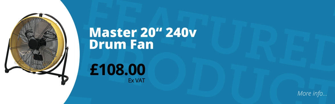 "Master 20"" 240v drum fan £108.00 ex VAT"