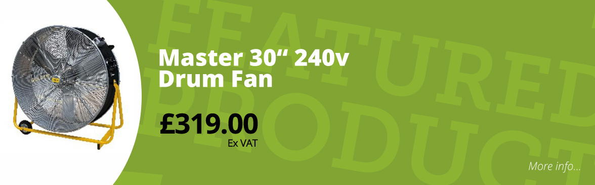 "Master 30""drum fan £319.00 ex VAT"
