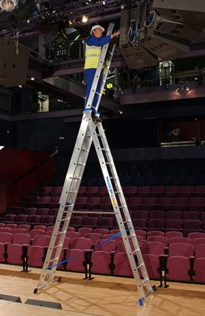 Zarges Trade 3-Part Skymaster Z500, 3 x 6 Combination Ladder