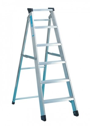 Zarges Class 1 Industrial Swingback Step 1 x 8 Stepladder